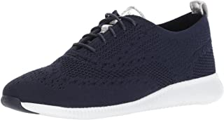 حذاء منسوج من كول هان اوكسفورد زيروجراند 2 ستيتشلايت للنساء, (Marine Blue Knit/Ch Argento Eme), 6.5