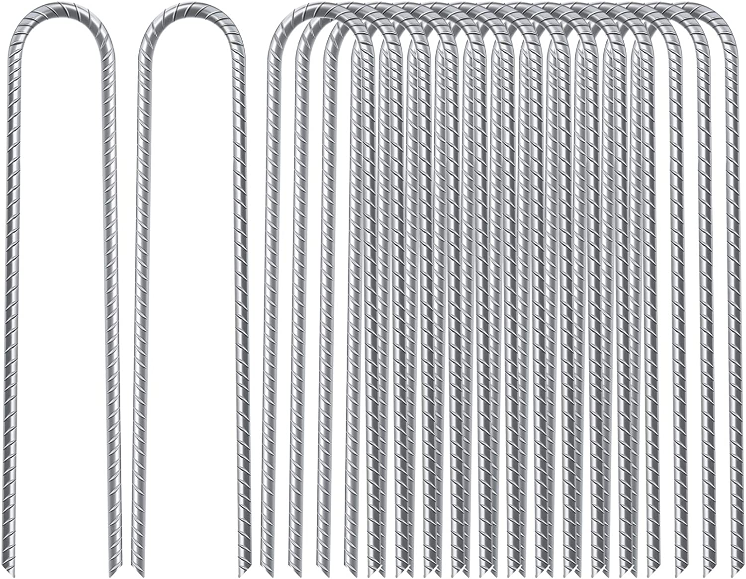 Max 61% OFF FEED GARDEN 16 Mesa Mall Inches Pack Galvanized Stakes Tra Rebar Hook U