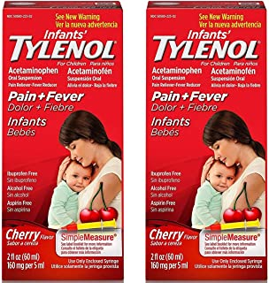 Infants TrRMyx Tylenol Oral Suspension, Fever Reducer and Pain Reliever, Cherry, 2 oz (2 Pack)