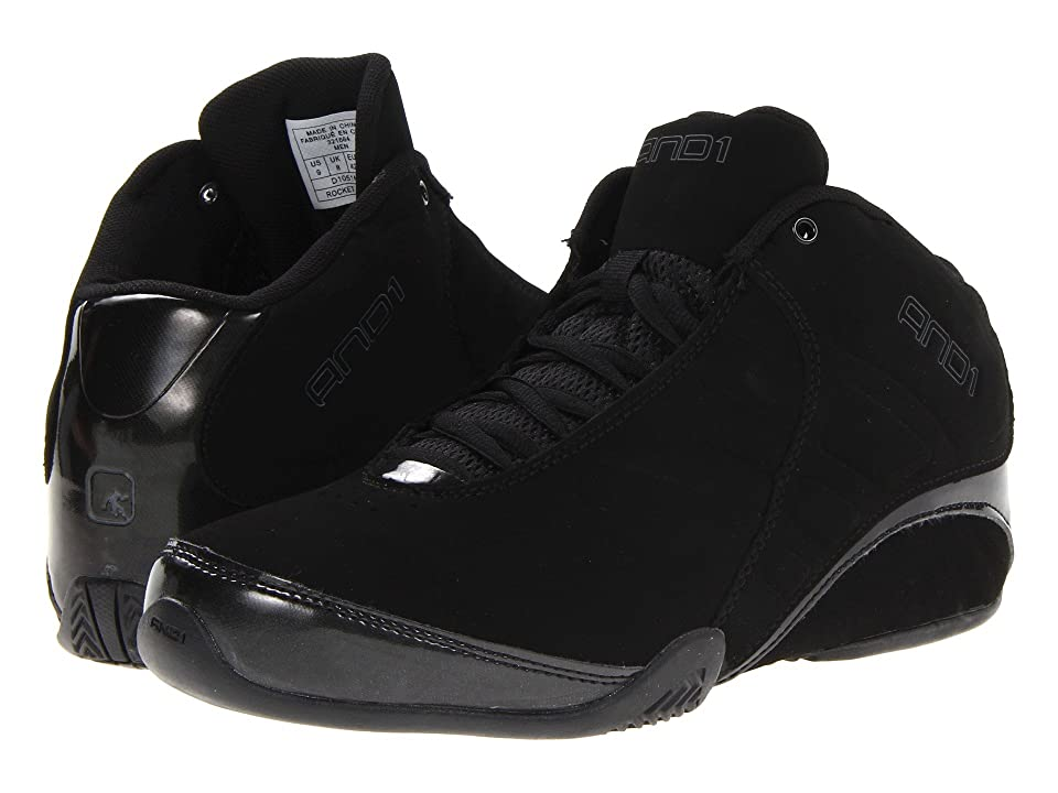 9151a855c115 886524160600. AND1 Rocket 3.0 Mid (Black Black) Men s Basketball Shoes