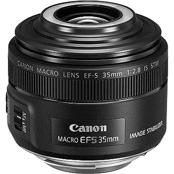 Canon Objektiv EF-S 35mm F2.8 IS Macro STM für EOS (Festbrennweite, 49mm Filtergewinde, Bildstabilisator, Autofokus) schwarz