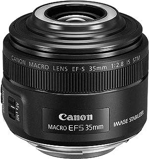 Canon EF-S 35 mm f/2.8 Macro IS STM - Objetivo para cámaras (Flash Macro Lite LED Integrado Aumento 1x) Color Negro