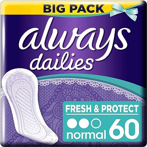 Always Dailies Fresh & Protect Protège-Slips - Normal x60