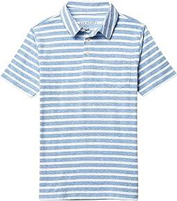 Short Sleeve Stripe Abbott Polo (Toddler/Little Kids/Big Kids)