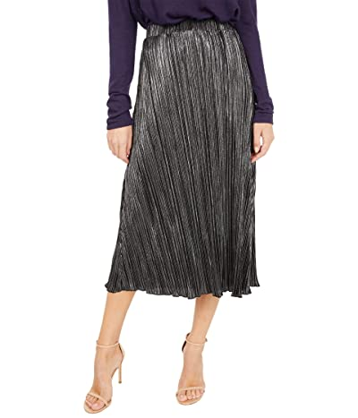 Sanctuary Keen On You Micro Pleat Skirt (Black/Silver) Women