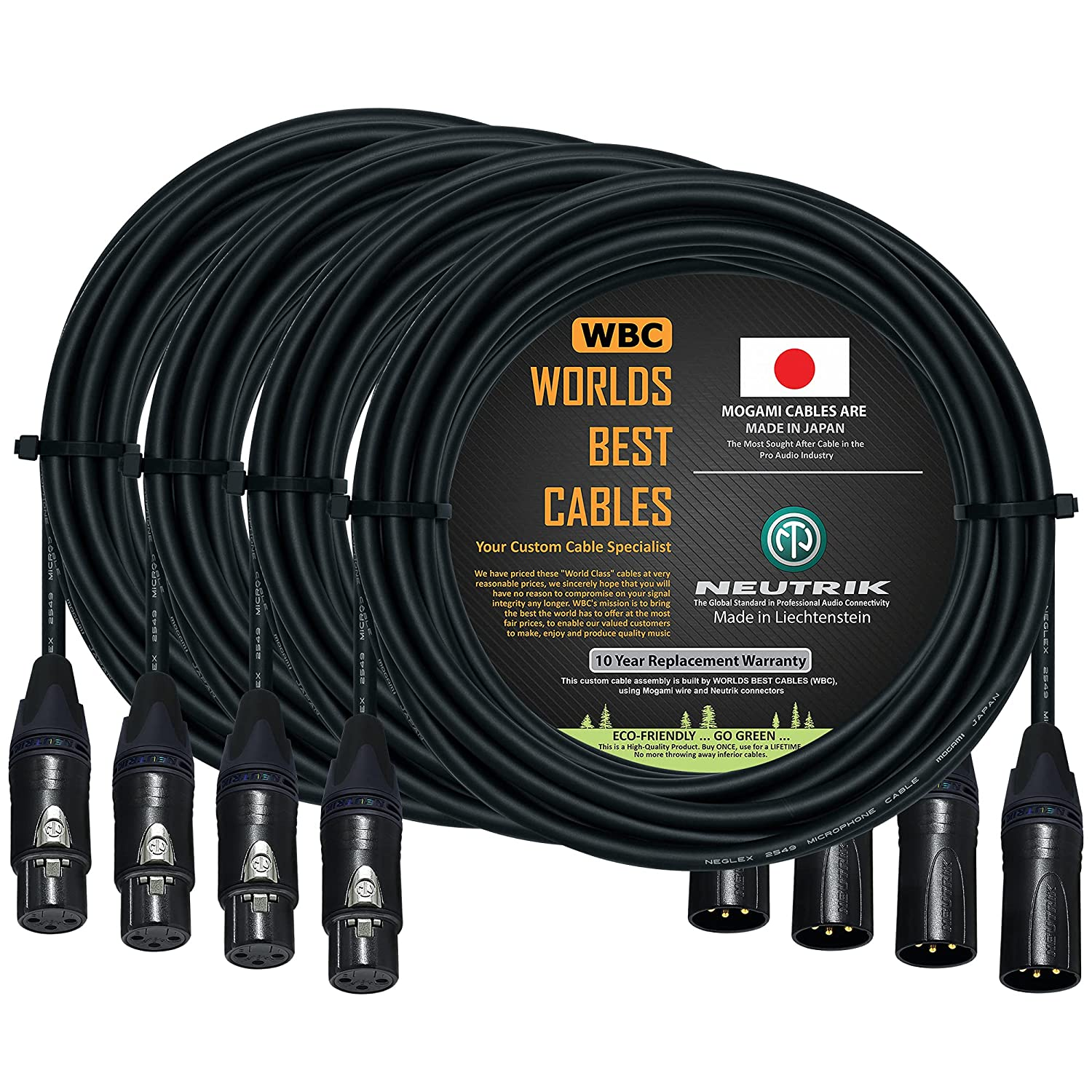 4 Units - 25 Foot Balanced Microphone Limited price 2021 new Custom Cable by Made WOR