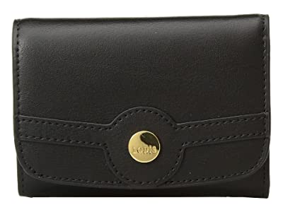 Lodis Accessories Rodeo RFID Mallory French Purse (Black) Handbags