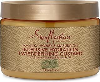Shea Moisture Manuka Honey & Mafura Oil Twist-defining Custard Moisturizer for Unisex, 12 Ounce