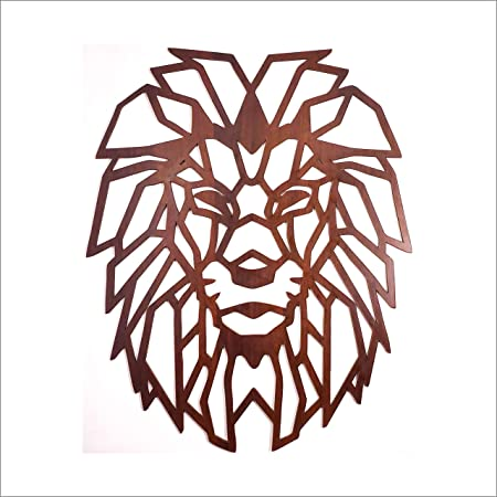 Litup_store Lion Face Wooden Wall Hanging for Home & Office Decorations | Wooden
