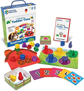 Learning Resources All Ready For Toddler Time Activity Set, Counting, Sorting, Homeschool, 22 Pieces, Ages 2+,Multi-color