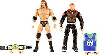 WWE Triple H vs Jeff Hardy Elite Collection 2-Pack 6-in Action Figure with Intercontinental Championship, Entrance Gear & ...