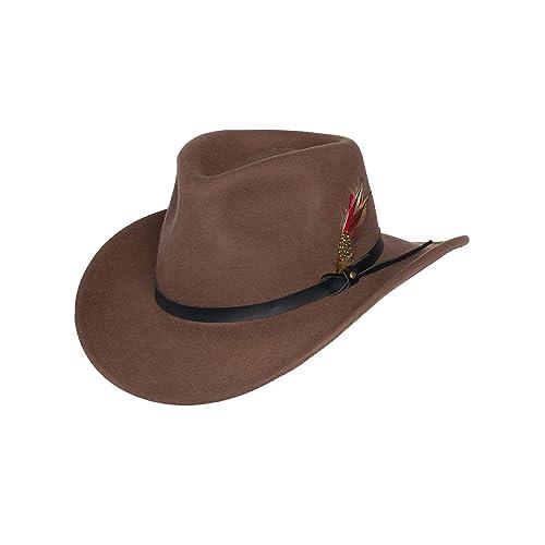 70292a9c1ae Men s Cowboy Hats Felt  Amazon.com