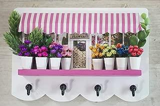 A-MAN DESIGN The Fıoraıo Decorative Handmade Key Holder for Wall, Natural Flowers, Charming, Housewarming Gifts, Wall Mounted, Key Hanger, Key Rack