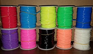 LOT OF 10 PLASTIC CORDING GIMP assorted colors 100 yards each jewelry craft RM1477