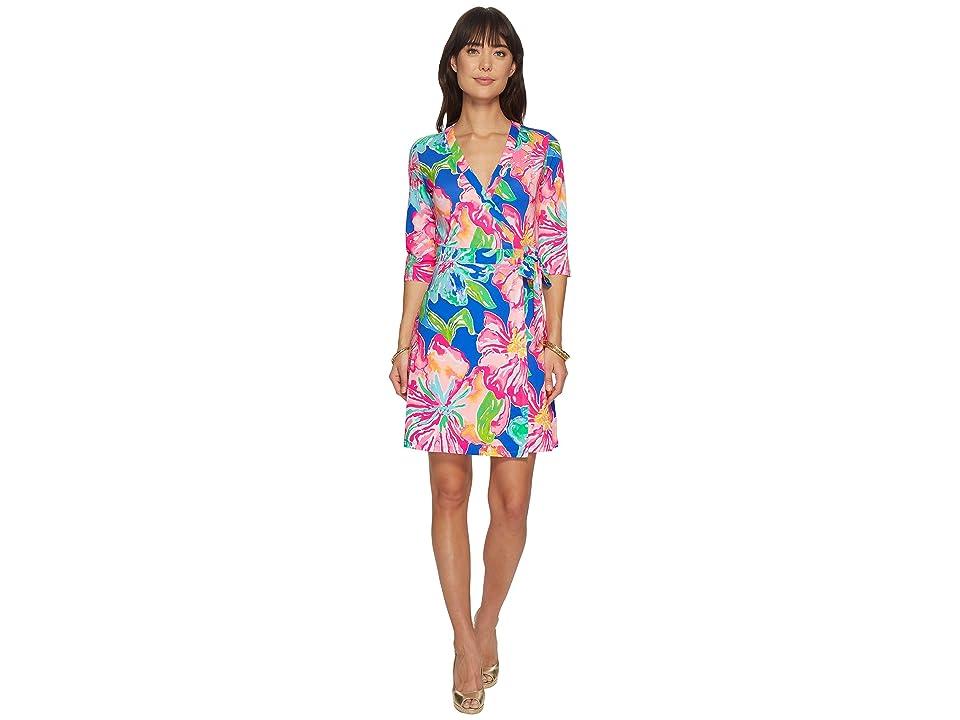 Lilly Pulitzer Marvista Wrap Dress (Beckon Blue Jungle Utopia) Women