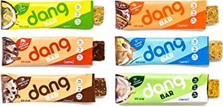 Dang Bar - KETO CERTIFIED, Low Carb, Plant Based, Gluten Free, Real Food Snack Bar, 2-3g Sugar 4-5g Net Carbs, No Sugar Alcohols or Artificial Sweeteners, 12 Count (Variety Pack | 12 Bars | 6 Flavors)