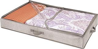 mDesign housse de dessous de lit pour chaussures – range-chaussures avec 12 sections de rangement – accessoire de rangemen...