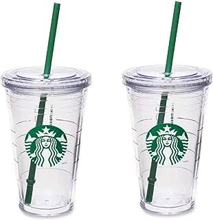 Starbucks Grande isolerad resebehållare 16 oz dubbelvägg akryl 2-pack set