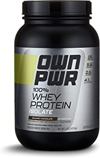 OWN PWR 100% Whey Protein Isolate Powder, Gourmet Chocolate, 25 G Protein, 2 Pound (27 Servings)