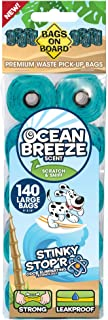 Bags on Board Scented Refill Rolls, 140 bags, Ocean Breeze