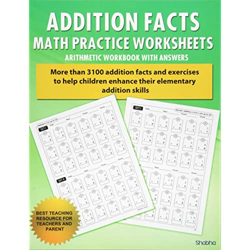 addition worksheets amazoncom addition facts math practice worksheet arithmetic workbook with answers  daily practice guide for elementary students