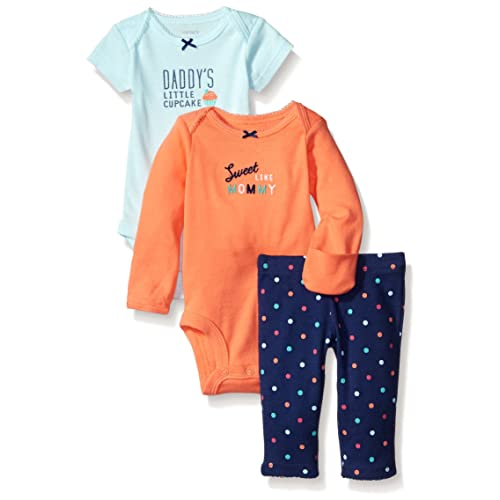 Carters Baby Girls 3 Pc Back Art 126g365