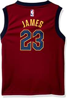 Outerstuff NBA Cleveland Cavaliers-James Kids Replica Player Jersey-Road, Large(7), Burgundy