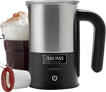 Aroma Aroma Hot Froth X-Press Milk Frother,  Stainless Steel (AFR-180)