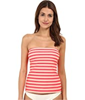 Kate Spade New York - Georgia Beach Stripes Bandeau Tankini