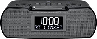 Sangean RCR-20 FM-RDS (RBDS) AM / Bluetooth / Aux-in / USB Phone Charging Digital Tuning Clock Radio with Battery Backup, ...