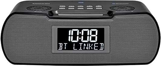 Sangean RCR-20 FM-RDS (RBDS) AM/Bluetooth/Aux-in/USB Phone Charging Digital Tuning Clock..