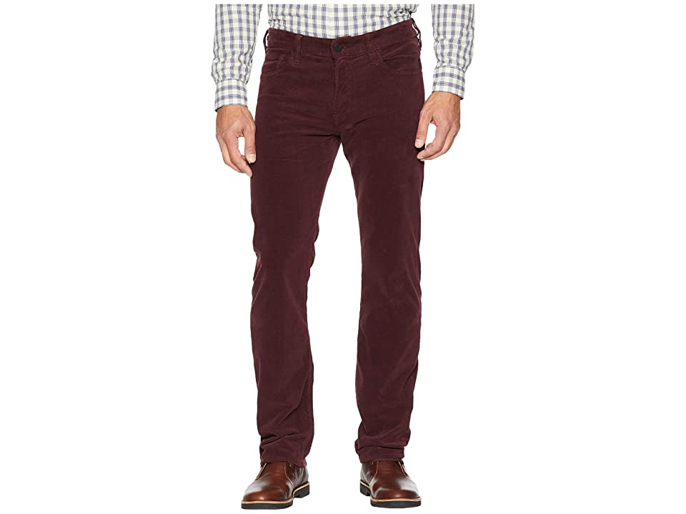 Image of 34 Heritage Courage Straight Leg in Burgundy Cord (Burgundy Cord) Men's Jeans