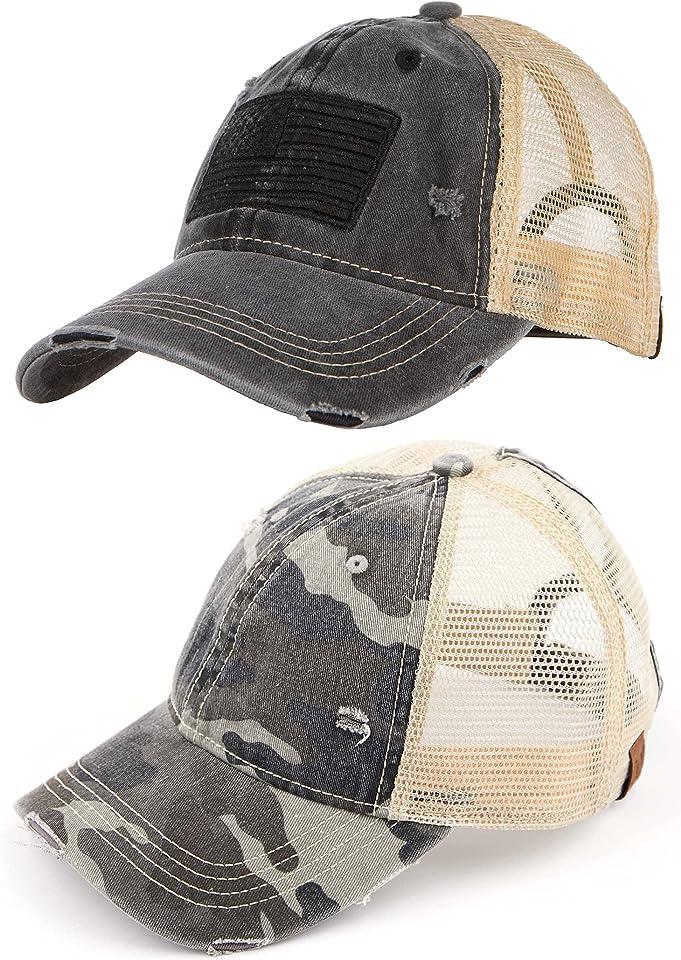 Funky Junque Women's Adjustable Athletic Trucker Hat Mesh Baseball Cap Dad Hat