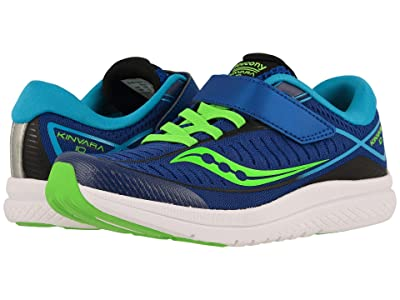 Saucony Kids Kinvara 10 A/C (Little Kid) (Blue/Green) Boys Shoes