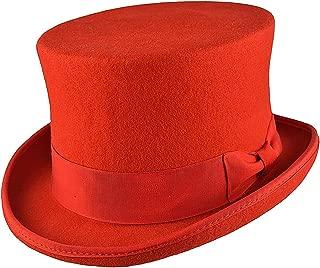 Nero Gladwin Bond 100/% Lana Wedding Event Top Cappello con Fascia in Vera Pelle e Fodera in Raso