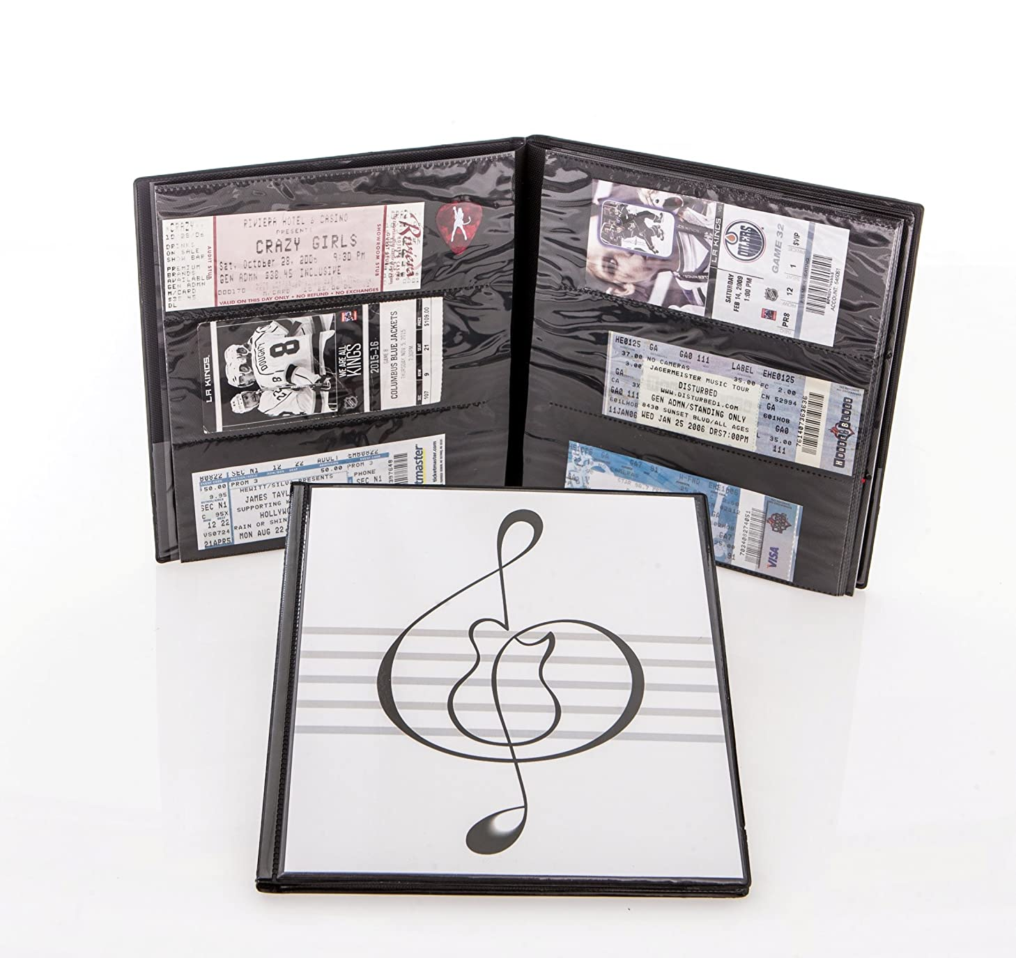 Ticket Keeper Album with guitar in music clef