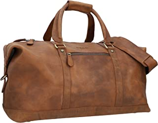Sac de Voyage en Cuir Unisexe Grand - Gusti Ruben 36L Bagage à Main Sac Week-End Marron