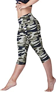 WEST ZERO TWO Capri Leggings- High Rise Yoga Pants with Tummy Control, Stretch High Waisted Fitness Workout with Pockets