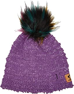 Extra Soft Boucle Hat with Puff Ball Faux Fur (Infant/Toddler/Little Kids/Big Kids)