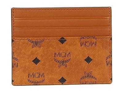 MCM Visetos Original Money Clip Mini (Cognac 1) Wallet