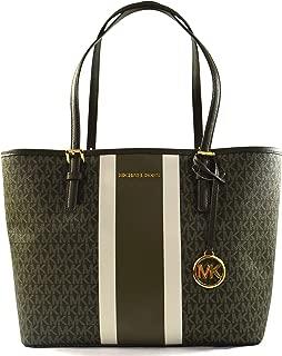 Michael Kors Jet Set Travel Medium Carryall Saffiano Leather Tote Bag Purse Handbag