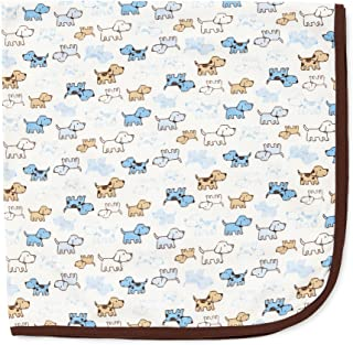 Little Me Baby Boys' Cute Puppies Blanket, White Print, One Size