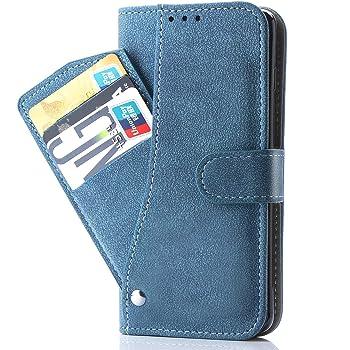 Galaxy Note 10 Plus/Pro ケース 手帳型,SCV45 SC-01M カバー Case Cover 手帳 PUレザー 財布型 サイドマグネット式 カードホルター付き収納スタンド機能 耐衝撃 Samsung ギャラクシーノート10プラス フィルム ギャラクシー Note10+ ノート 10+ Note 10+ 10 10 Plus + note10プラス 青