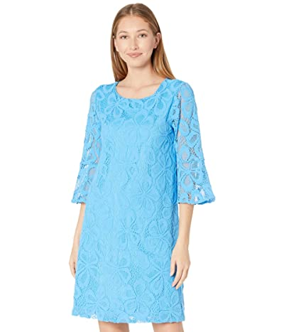 Lilly Pulitzer Ophelia Dress (Zanzibar Blue Spring Fling Lace) Women