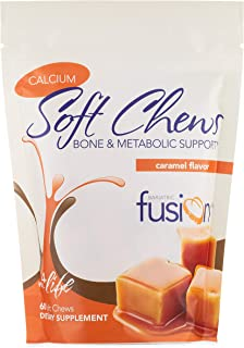 Bariatric Fusion 500mg Calcium Citrate & Energy Soft Chew Caramel Flavor for Bariatric Surgery Patients Including Gastric ...