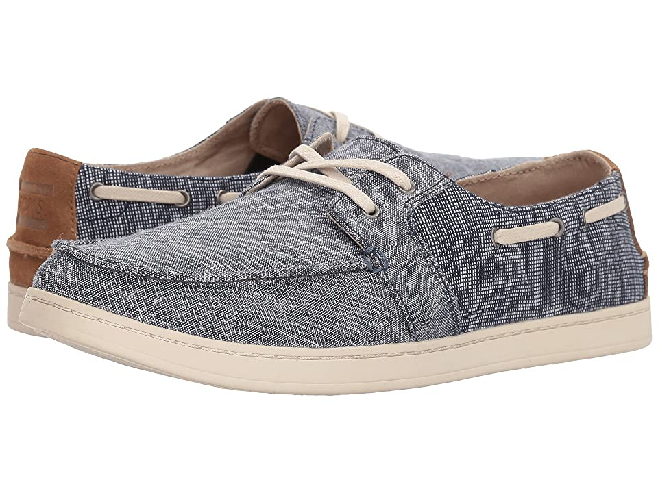 TOMS Culver Lace-Up (Navy Chambray Mix) Men