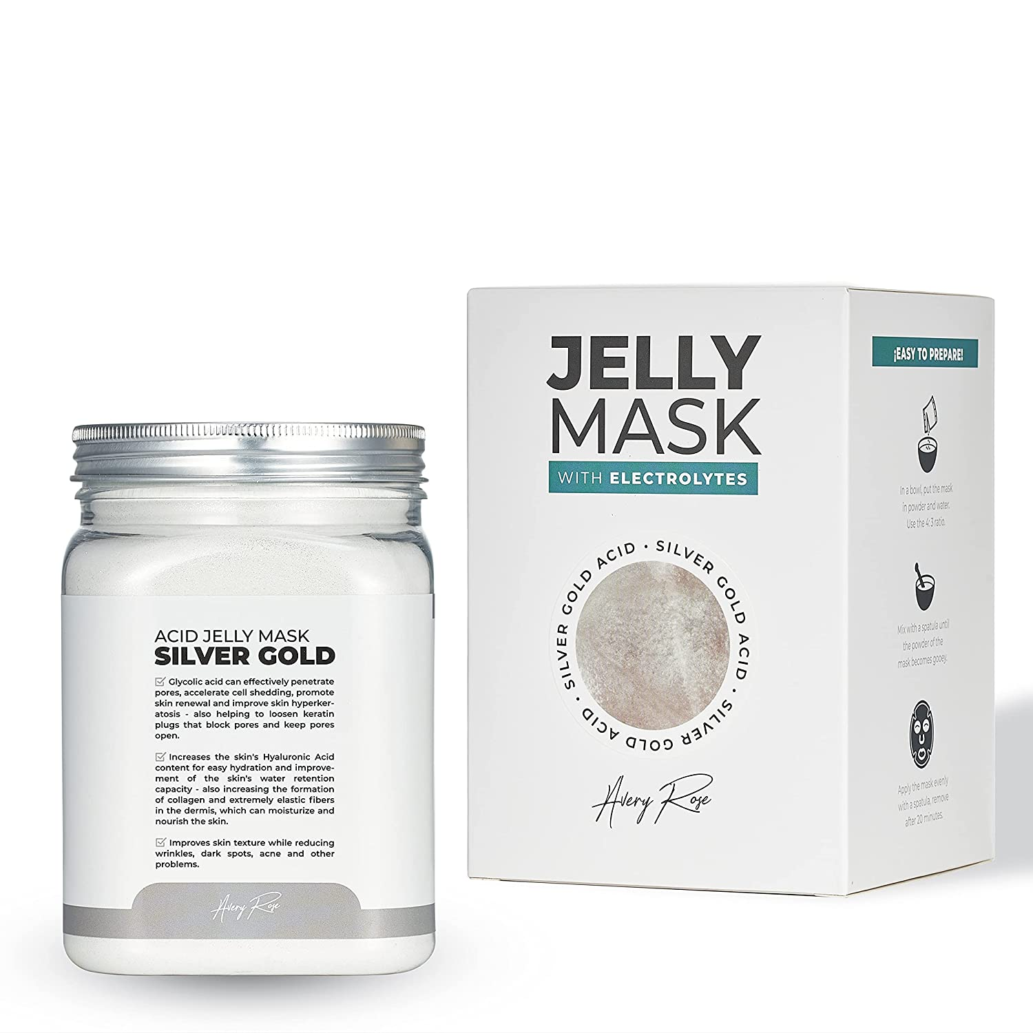 BRÜUN Peel-Off White Cheap super special price Gold Glycolic Ranking TOP14 AC Jelly Care Face R Jar Mask