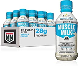 Sponsored Ad - Muscle Milk Muscle Milk Light Protein Shake, Vanilla Creme, 28g Protein, 17 FL OZ, 12 Count