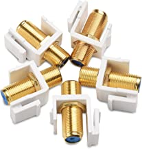 Cable Matters 5 Pack RG6 Keystone Jack Insert, Coaxial Keystone Jack Insert