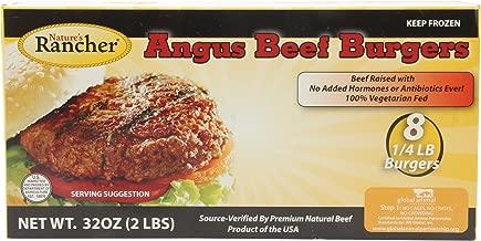 Nature's Rancher, Angus Beef Burgers, 1/4 lb Patties - 8 count, 32 oz (Frozen)